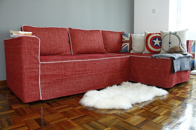 Couch Covers Delectable Red Slipcovers With Captain America Throw Pillow Target Sofa Ikea Recliner Chair Slip