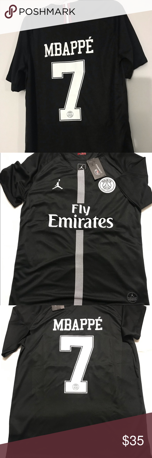 New Paris Saint Germain Mbappe 7 Jordan Jersey L Paris Saint Germain New Paris Jordan Jersey