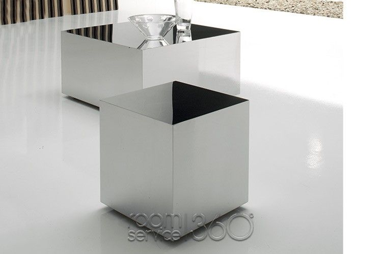 Dadox Stainless Steel Pouf On Wheels By Cattelan Italia Funky Magnificent Pouf On Wheels