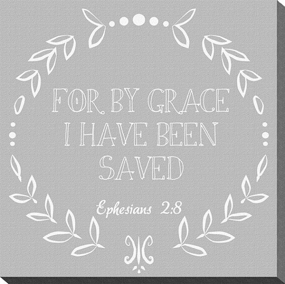 Scripture Canvas For by Grace 10x10 by thearmorofGod on