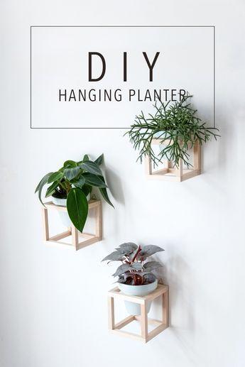 Wohnen mit Pflanzen \u2013 DIY hängende Pflanzenhalter Diy hanging - Pflanzen Deko Wohnzimmer