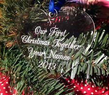babies first Christmas Tree Decoration First Christmas Together Gift Bauble