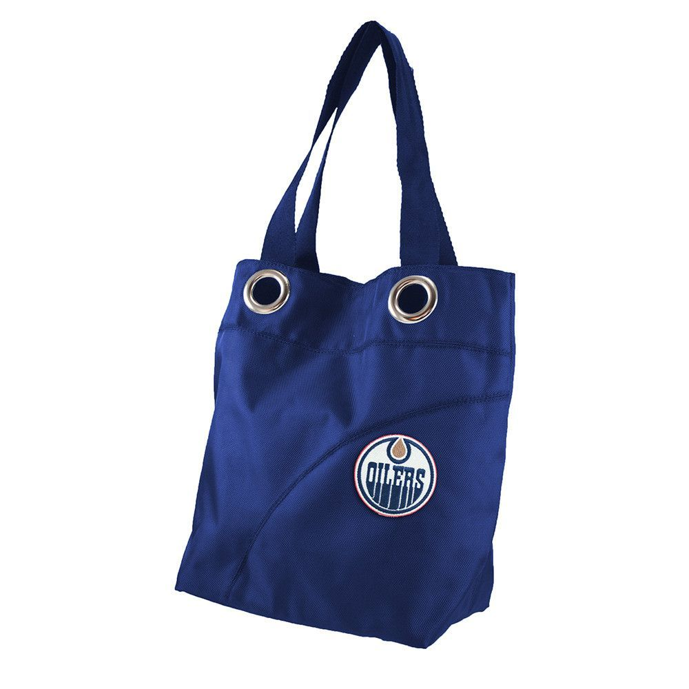 60faef49230 Edmonton Oilers NHL Color Sheen Tote (Navy)