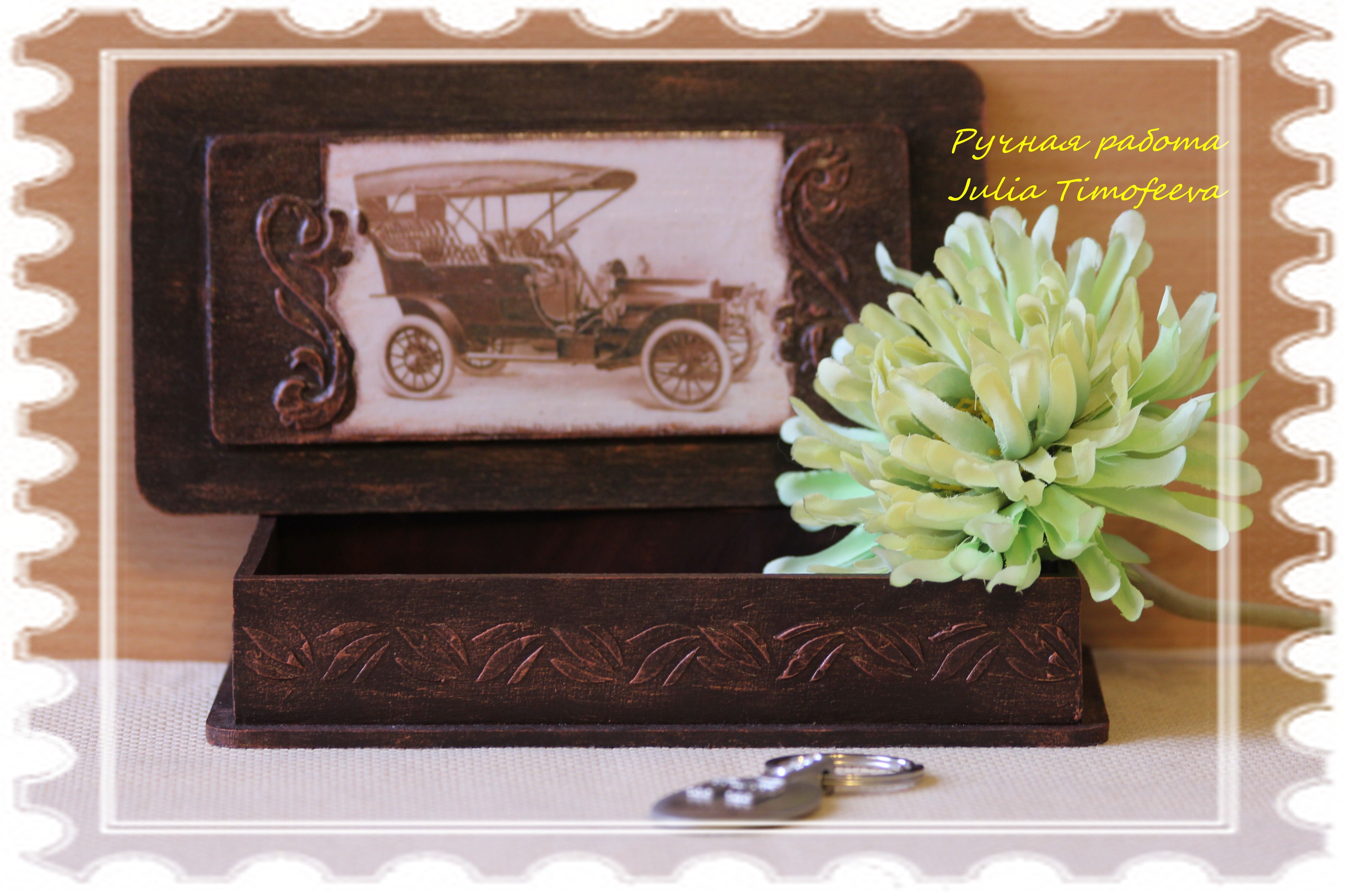 Decoupage caskets in vintage style with their own hands (photo)