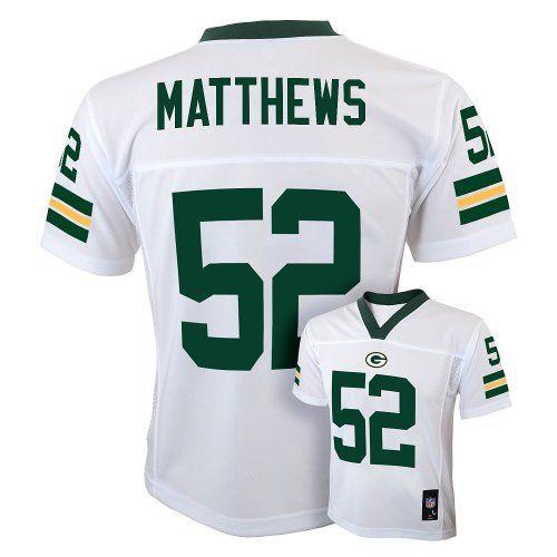 Clay Matthews Green Bay Packers White NFL Kids 2013 Season Mid-tier Jersey ( Kids 14d4af339