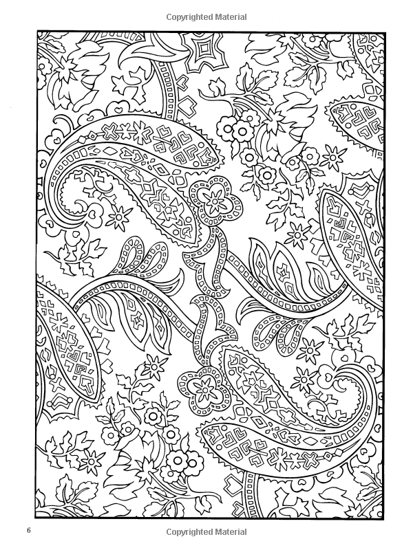 Amazon.com: Paisley Designs Coloring Book (Dover Design Coloring ...
