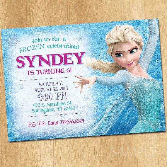 frozen invitation frozen birthday invitation disney frozen party