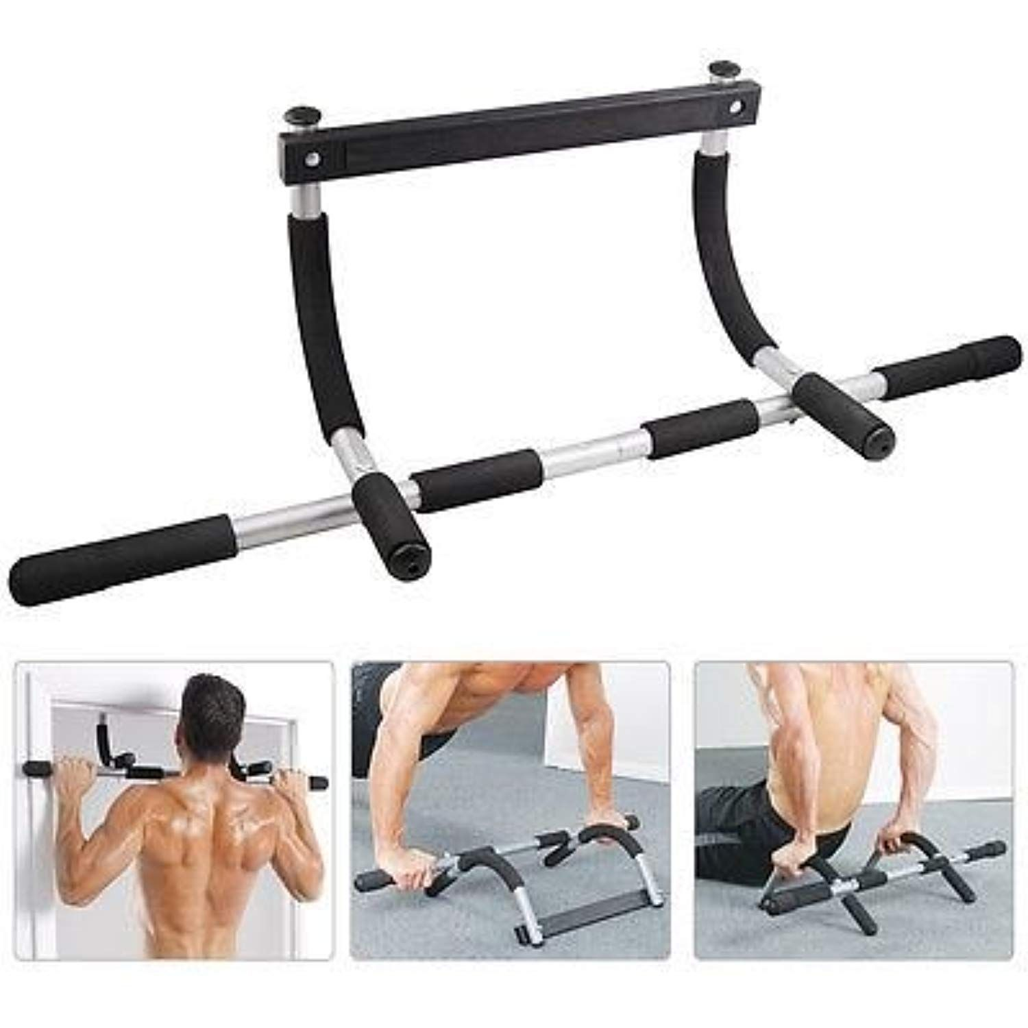 Barbell Doorway Sit Up Aid Bar Fit For Door Muscle Exercise Fitness Equipment