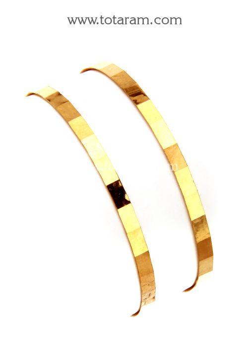 22k Gold Baby Bangles Murugulu 1 Pair Gold Jewelry Stores Baby Bangles Kids Gold Jewelry