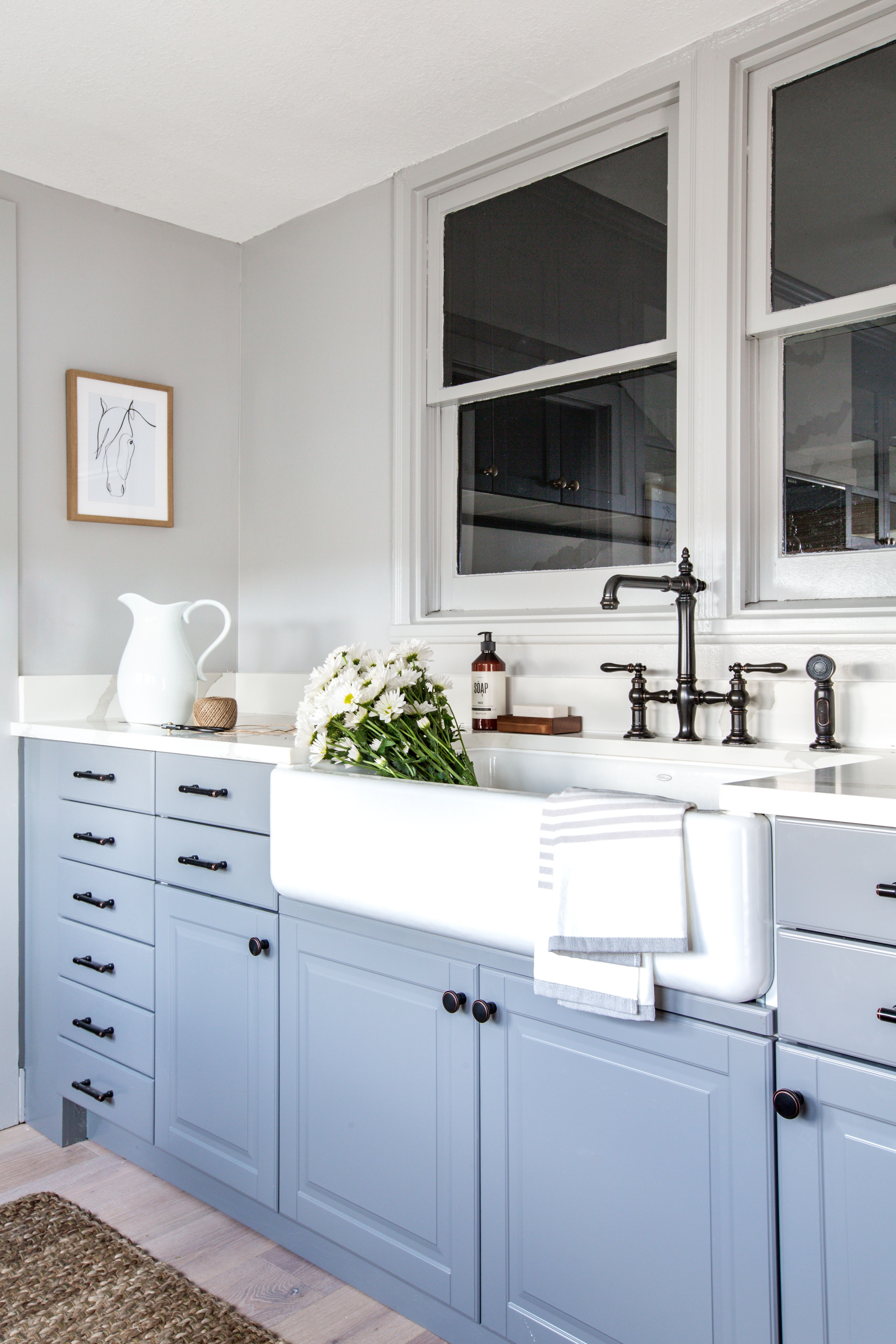 My Parent S Home Makeover With Target And Everything You Need To Shop The Look In 2020 Home Bathroom Farmhouse Style Upper Kitchen Cabinets