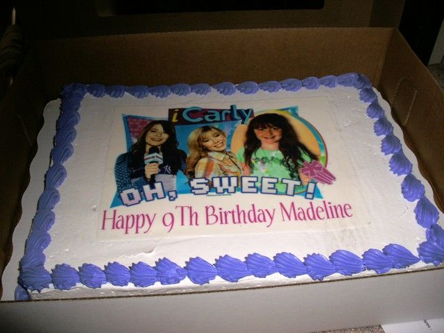 iCarly party - Madeline's 9th bday | Birthday cake ...