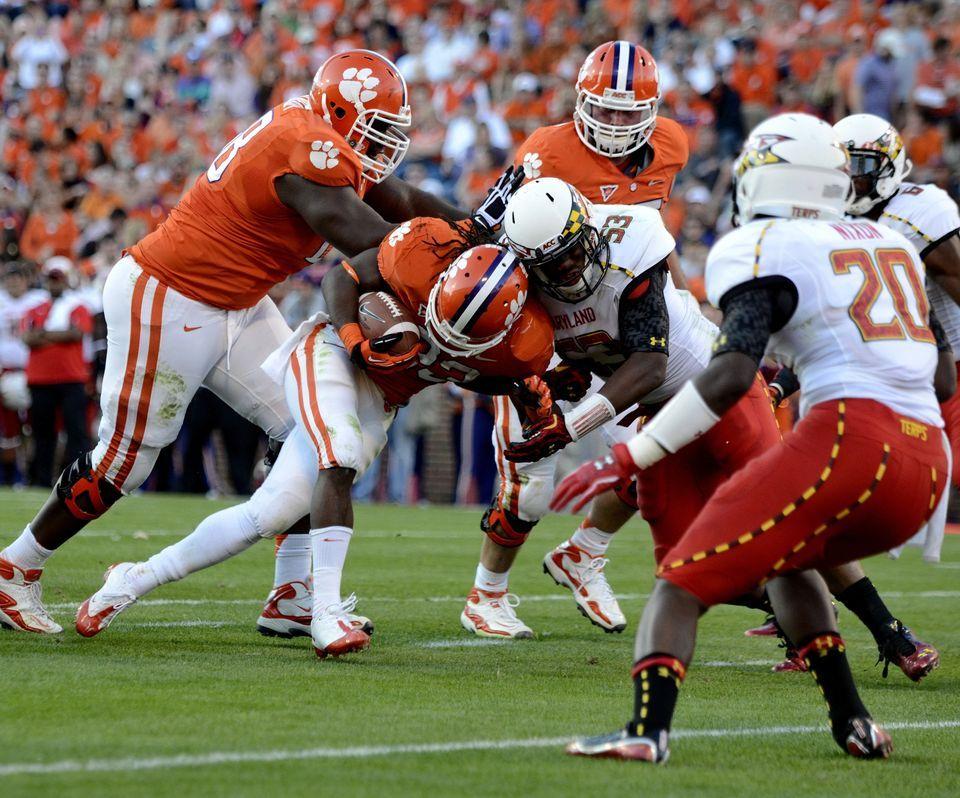 Around the ACC Clemson football, Football helmets, Clemson