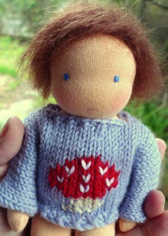 Tiny doll by Little Jenny Wren Dolls of Australia.