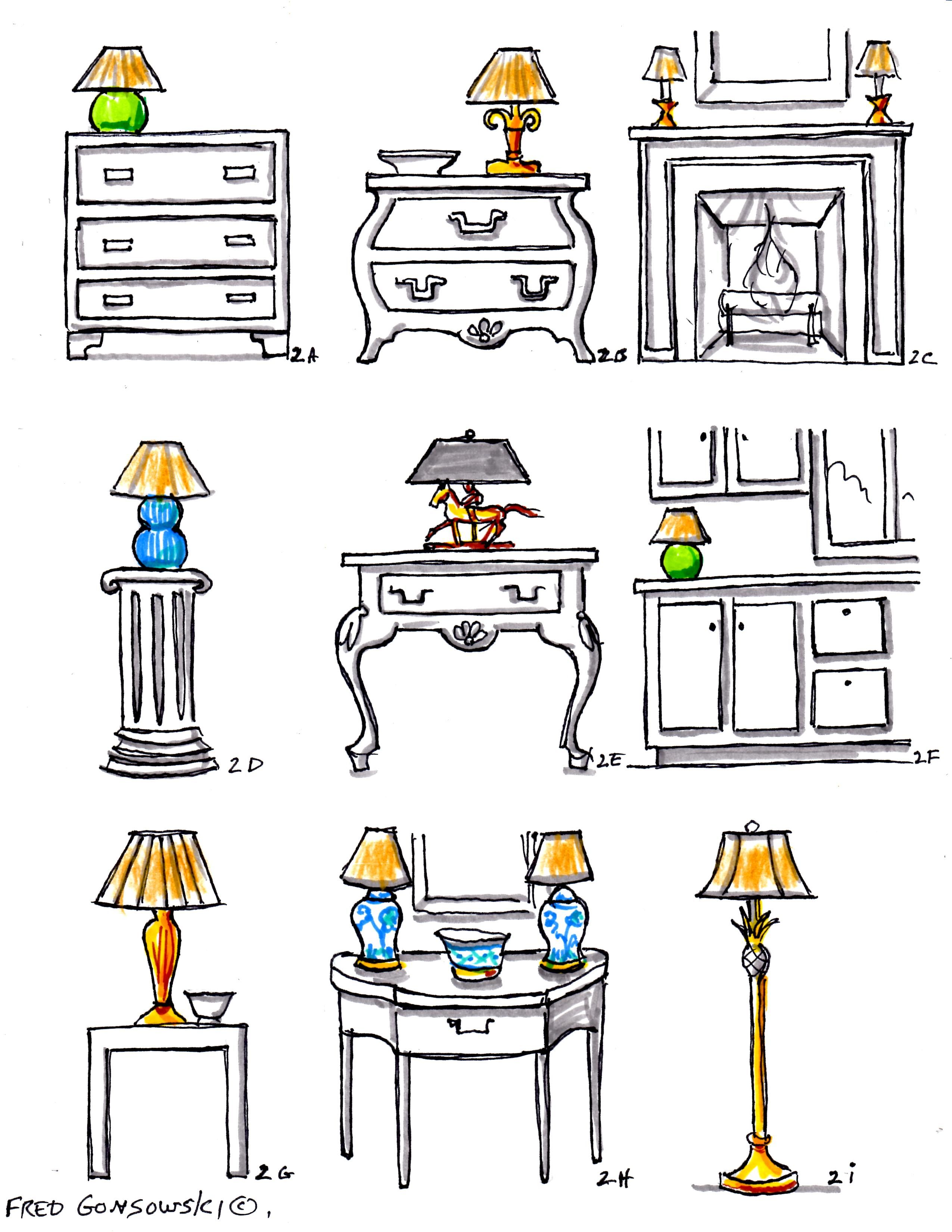 Table lamp height - Interior Decorating With Accent Lamps When Matching An End Table And Table Lamp Their Combined Height Should Be 58 To 64 Inches