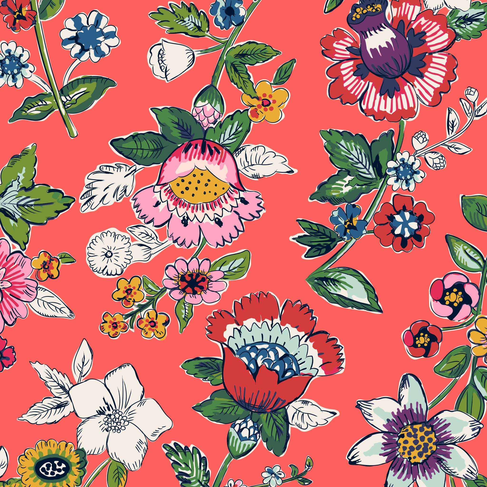 Vera Bradley Coral Floral Ipad Wallpaper Winter 2017 Ipad