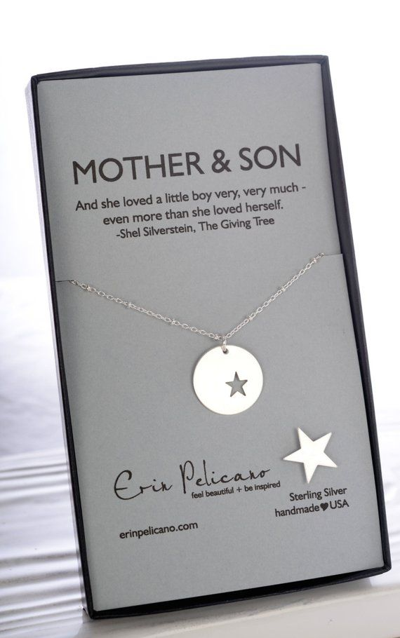 Mother Son Necklace Christmas Gifts For Mom Of The Groom Gift In Law New