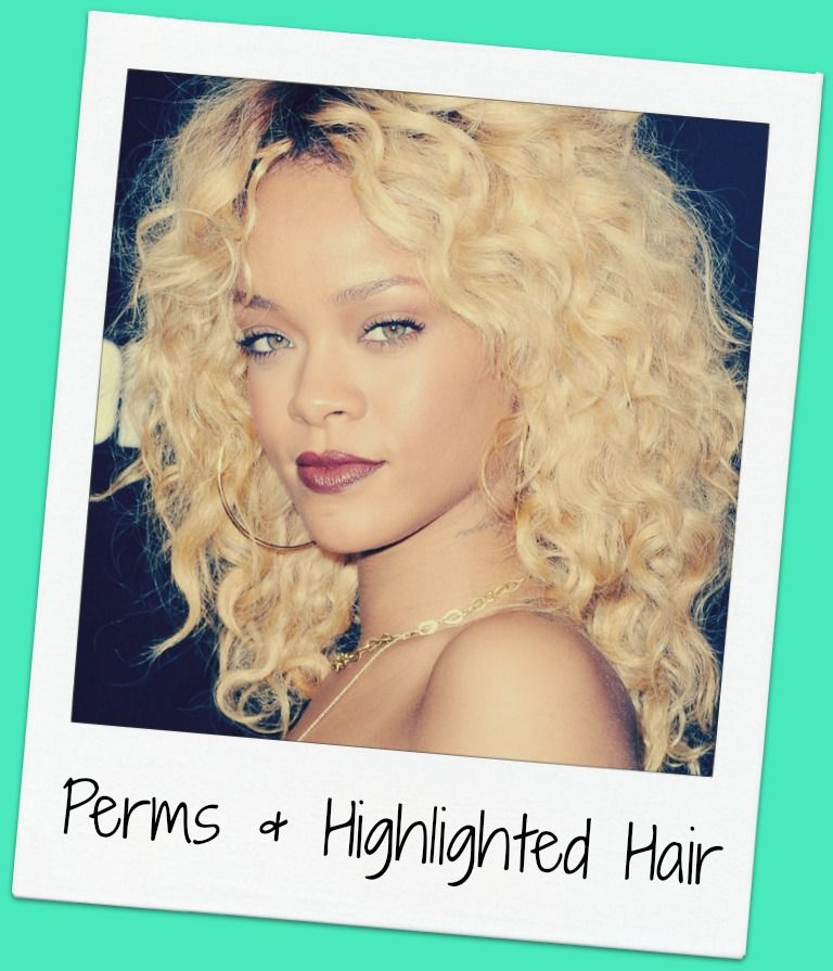 Perms With Highlighted Hair Confessions Of A Cosmetologist Hair Highlights Perm Hair