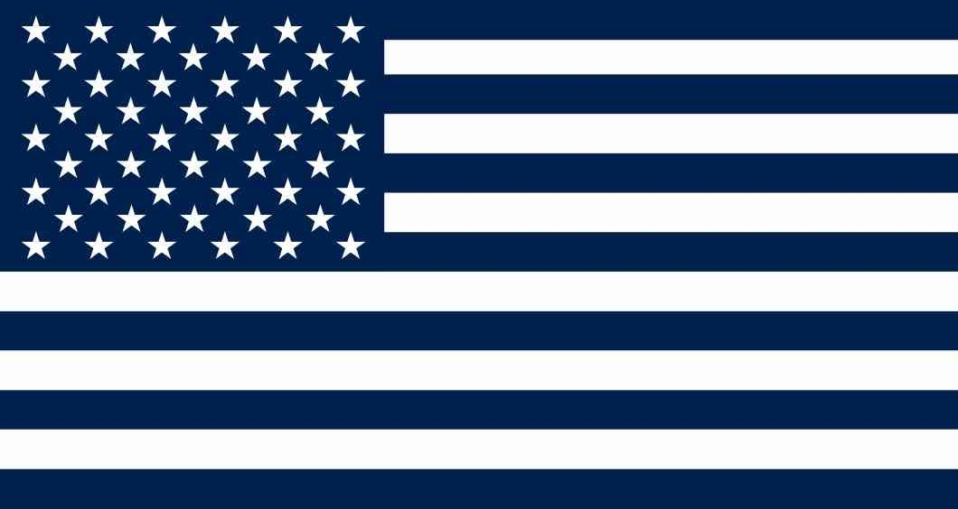 7in X 3 8in Blue And White American Flag Sticker Vinyl Patriotic Car Decal American Flag Sticker Flag American Flag