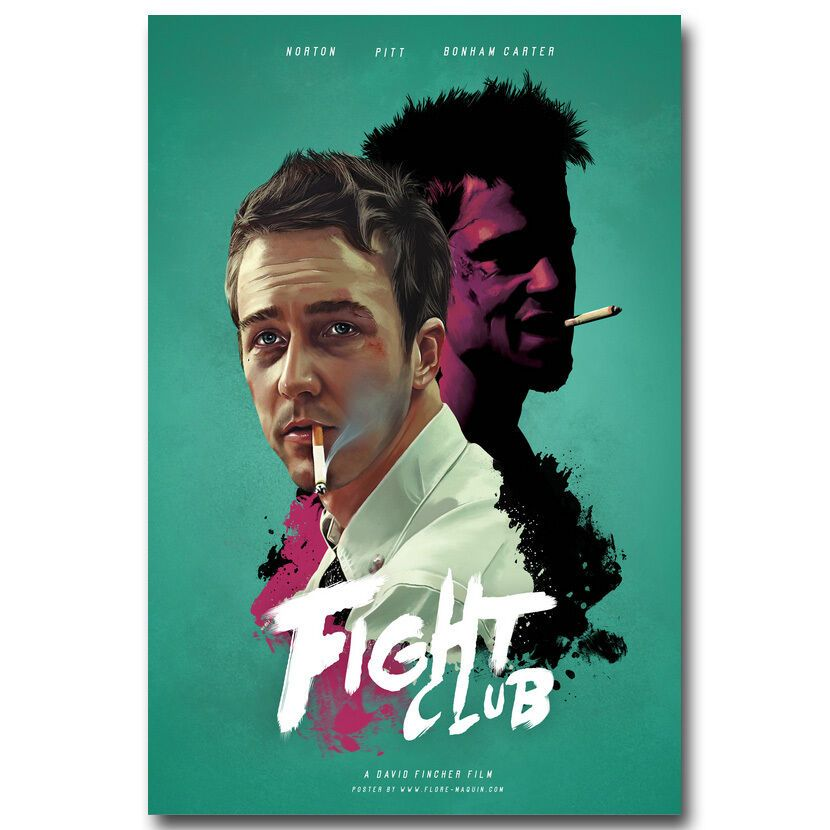 Fight Club Brad Pitt Classic Movie Art Silk Poster 12x18 24x36