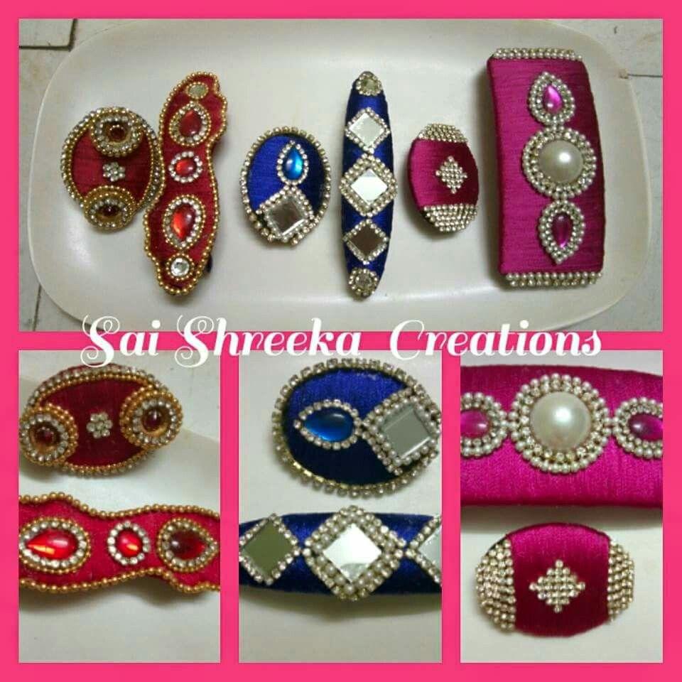 a8abccff8 silk thread hair clips n saree pins | jewellery | Silk thread ...