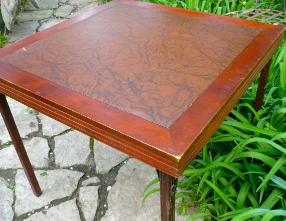 Wonderful Card Table Ferguson Folding Table Vintage Wood Table Vintage Card Table