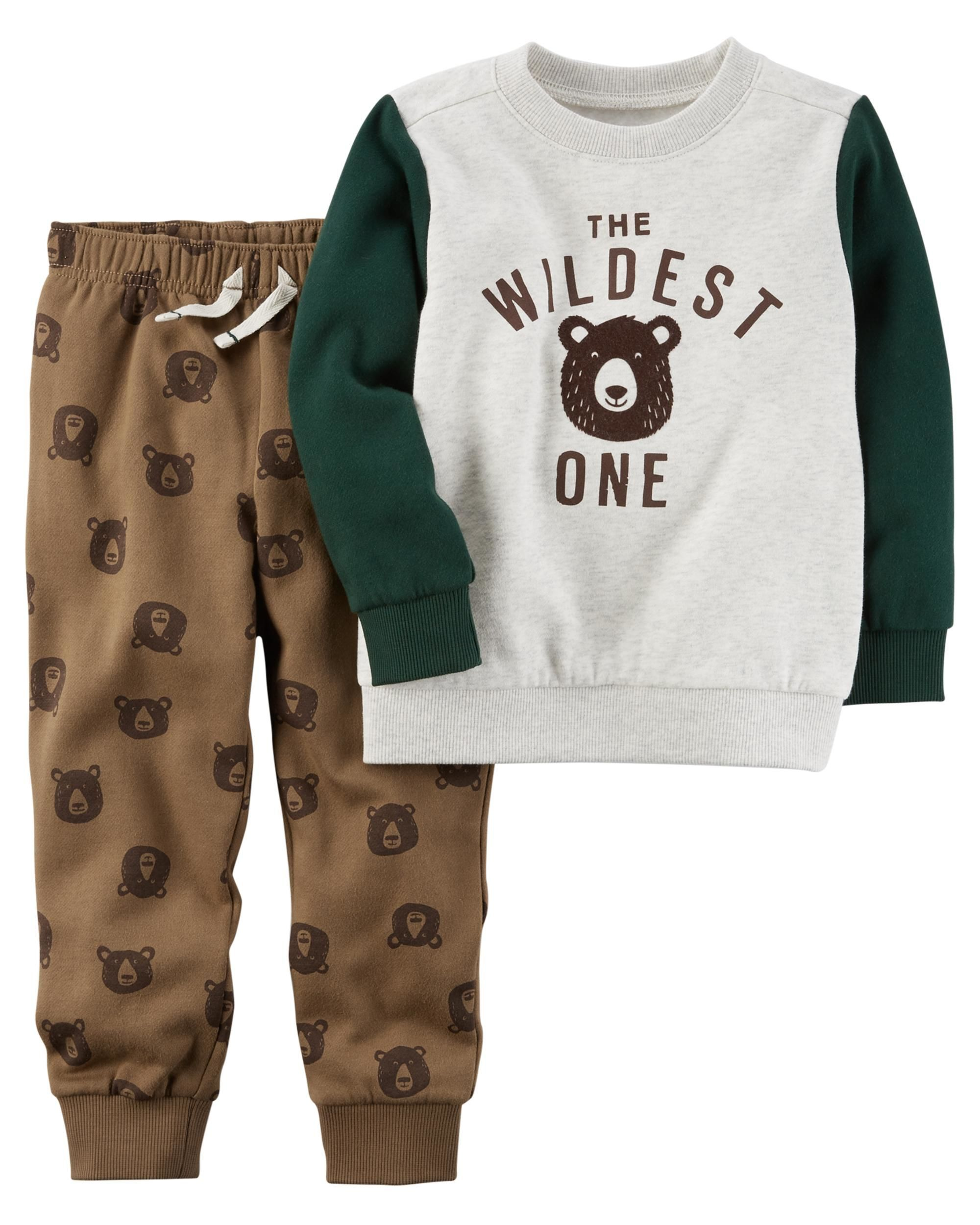 CARTERS 2-PIECE BABY BOYS BODYSUIT AND JOGGER SET SIZE 6 MONTHS
