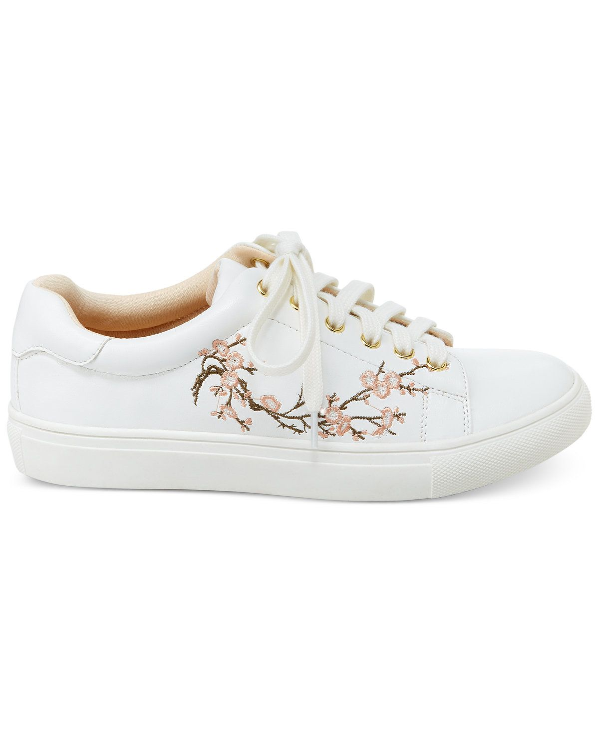 83adb6575a7476 Nanette by Nanette Lepore Winona Blossom Lace-Up Sneakers - Sneakers -  Shoes - Macy s