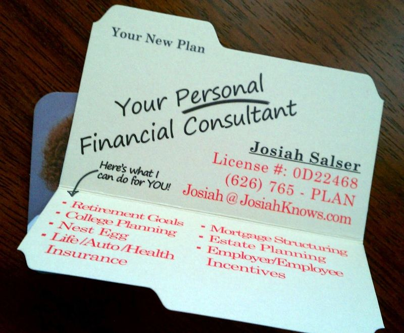 Financial Planner in Upland with a great business card - Check it ...