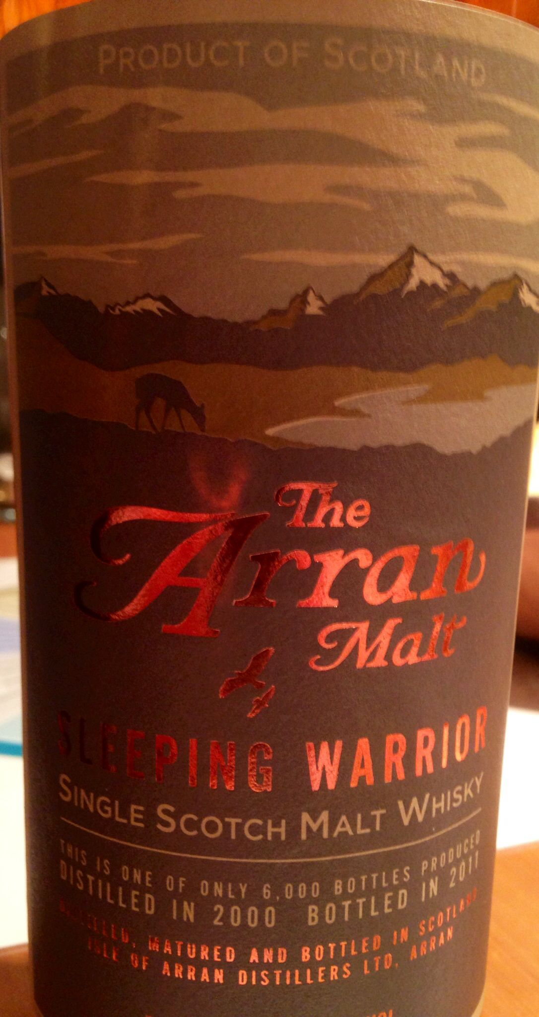 Arran Sleeping Warrior 2000 2011 11yo 54 9 6 000 Bottles
