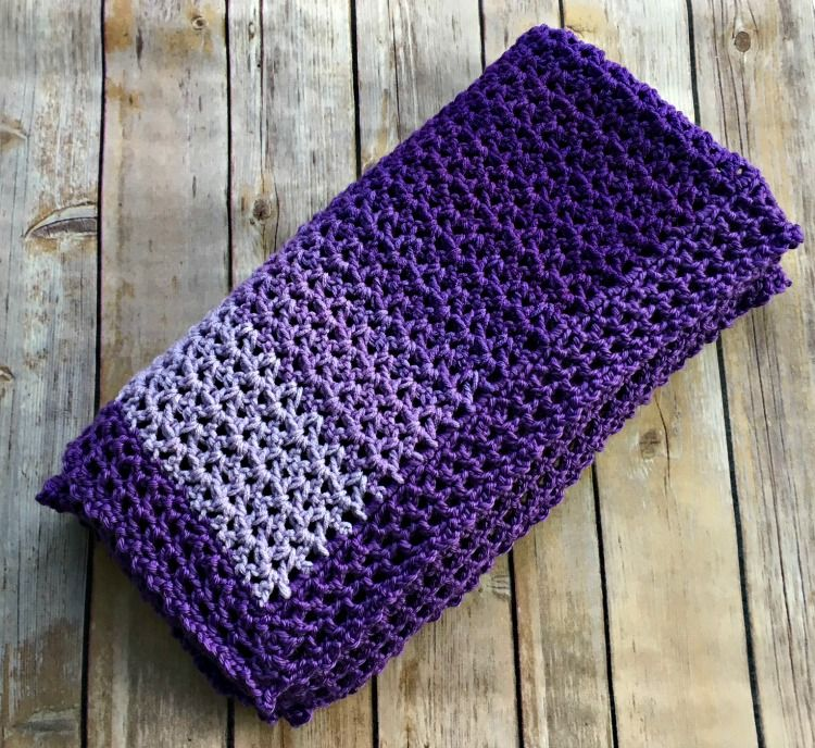 Easy Ombre Baby Blanket - Free Crochet Pattern | Baby Things | Pinterest