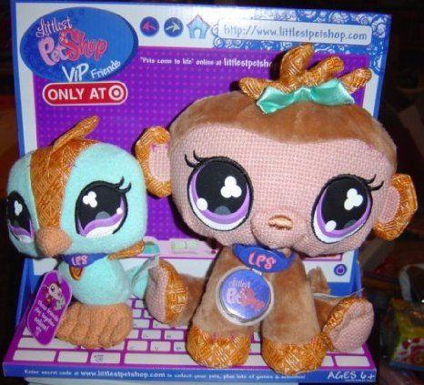 Amazon Com Littlest Pet Shop Vip Friends Monkey Bird Set Toys Games Littlest Pet Shop Pet Shop Dog Stuffed Animal