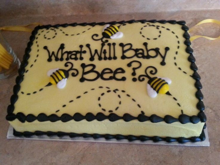 Our What Will Baby Bee Gender Reveal Cake Pull We Had