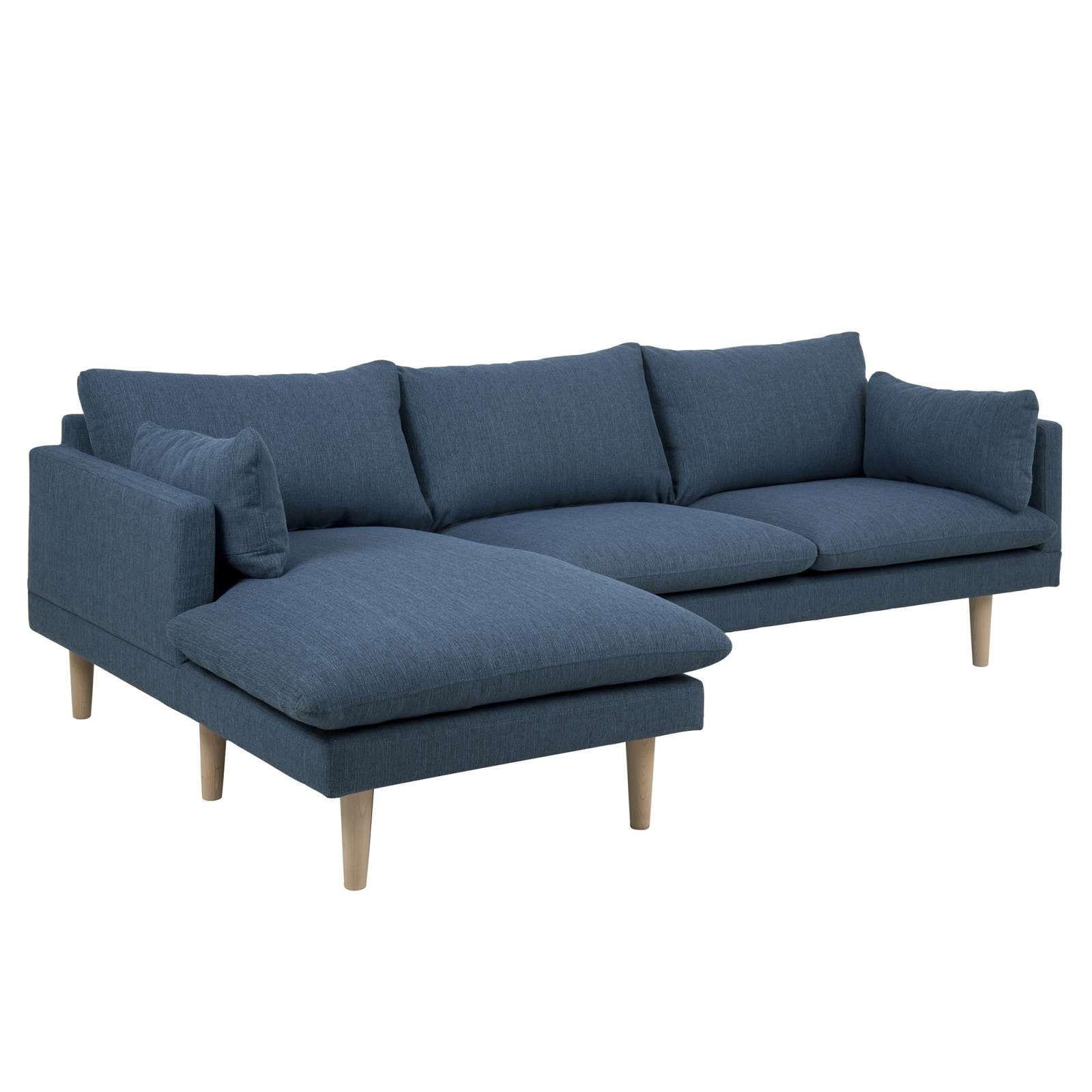 Sunderland L Shaped Fab Left Blue Fabric Sofa Blue Fabric Sofa