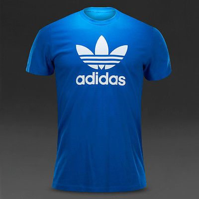 adidas ORIGINALS ADI TREFOIL s: T SHIRT Men s: Men adidas MEDIUM Color: BLUE LAST 2164dad - antibiotikaamning.website