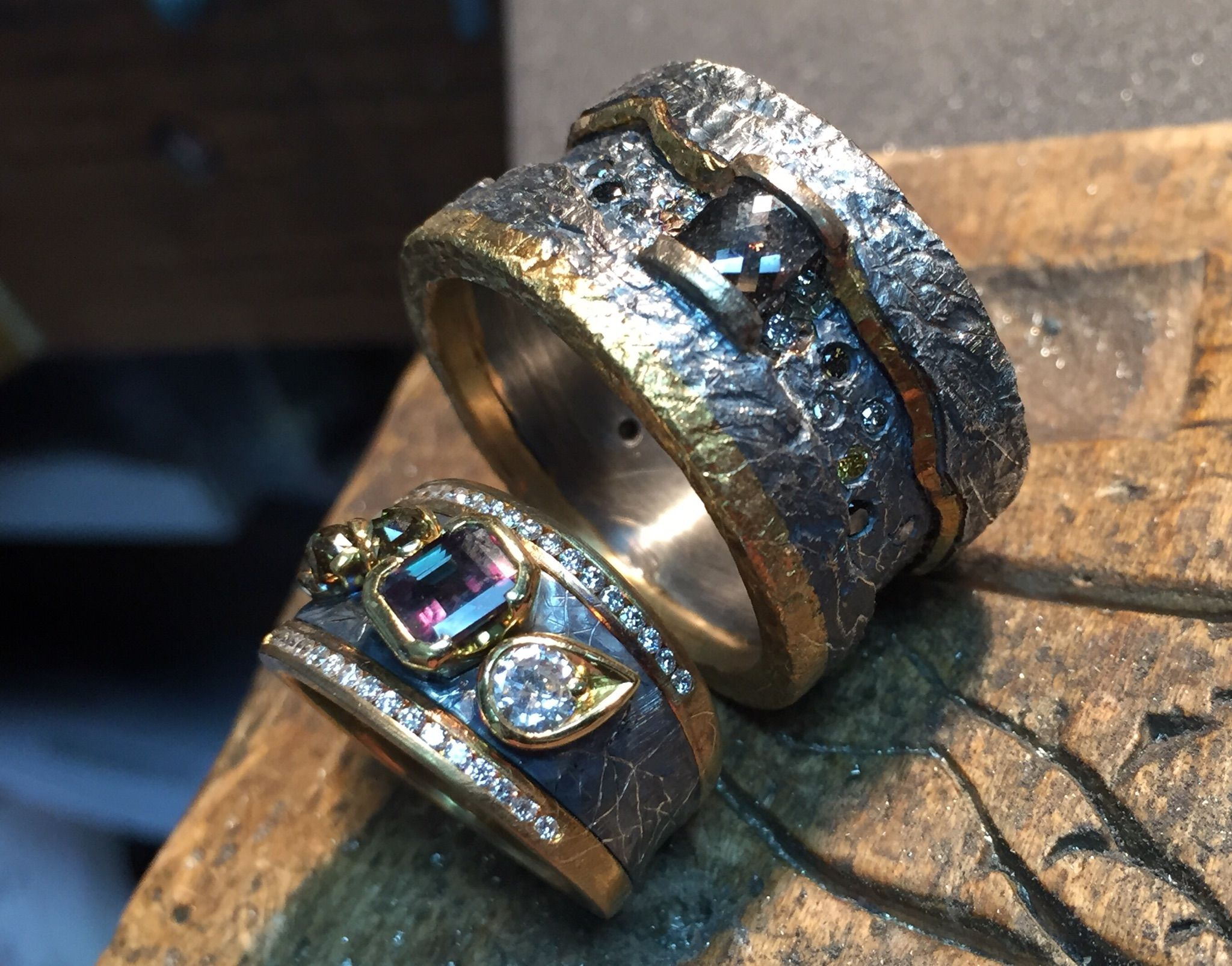 Found the perfect wedding/engagement rings for a man and a