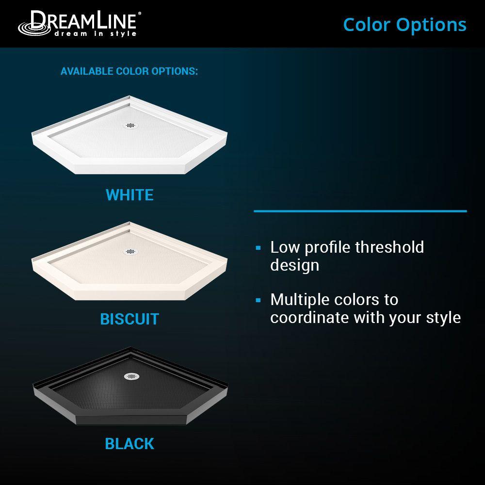 Dreamline Slimline 36 In L X 36 In White Acrylic Neo Angle Corner