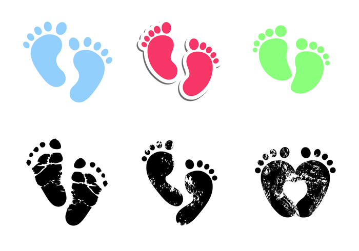Free Baby Footprints Vector Baby Footprints Free Vector Art Baby Prints