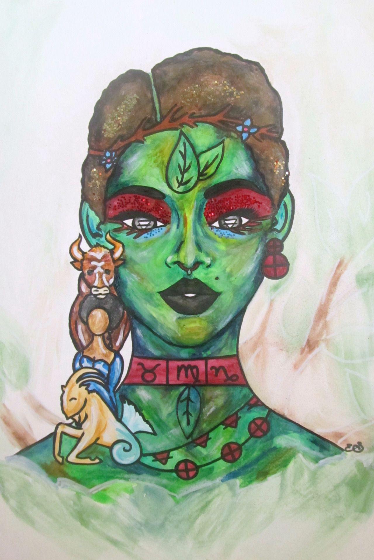 Shannon's Artwerkk Black women art, Zodiac art, Female art