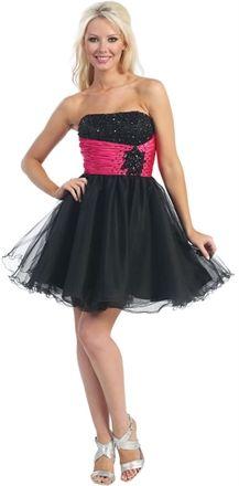 Cute A-line Strapless Short Organza Homecoming Dress-$136.99-ReliableTrustStore.com