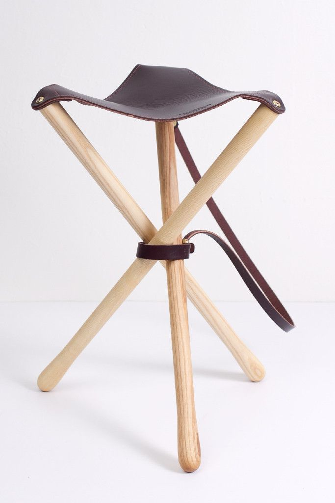 Wood Faulk Camp Stool Campaign Furniture Stool Wood