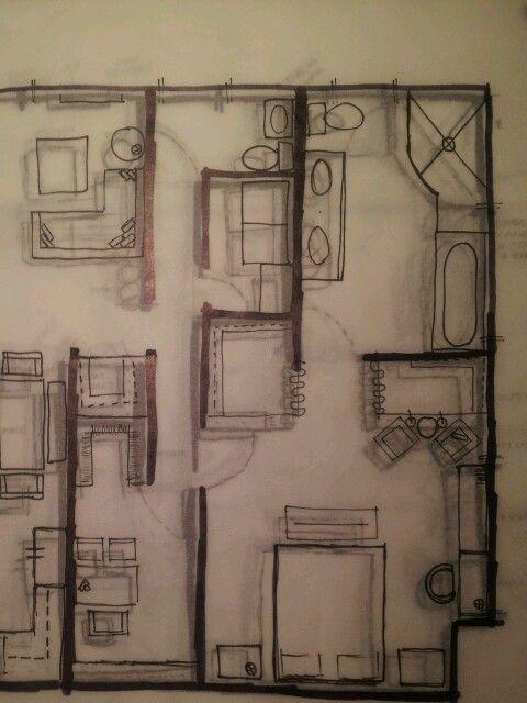 Floor Plans On Trace Paper 3d House Plans Autocad Presentation Styles