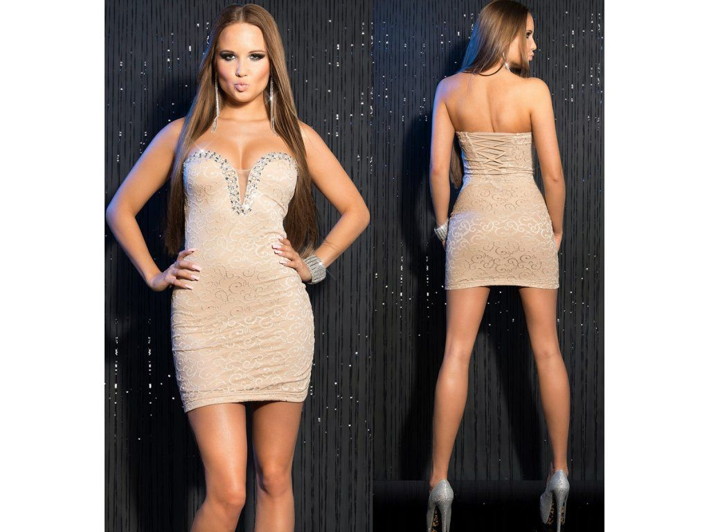 Party prom dress with crystals - in stock 01f9b891b29