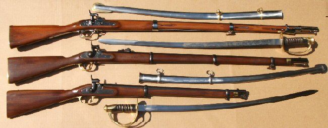 Some of Middlesex Village Trading Company's Civil War weapons ...