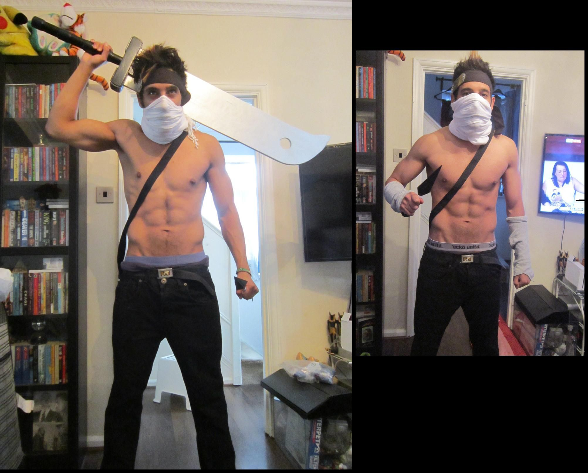 This was my first proper cosplay attire. Zabuza from ...