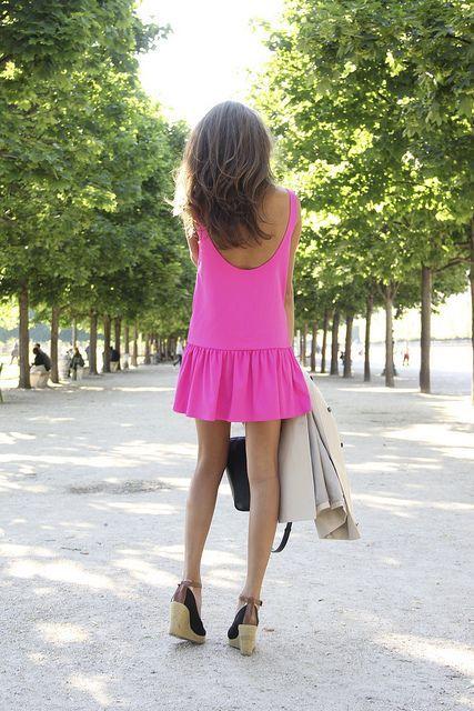 Rosa Kleid Kombinieren Welche Schuhe Passen Zu Rosa Kleid Mit Bildern Sommermode Modestil Niedliche Kleider