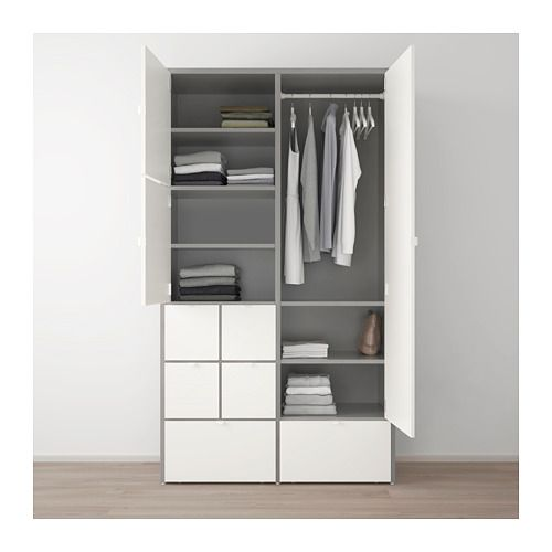 VISTHUS Kleiderschrank, grau, weiß | Drawers, Konmari and Ikea hack