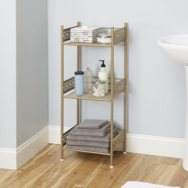 Gillespie 14 5 W X 36 H Bathroom Shelf Floor Shelf Shelves Bathroom Collections