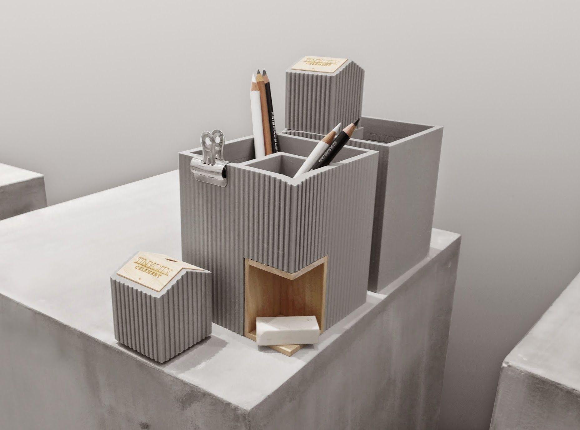 軟水泥筆筒X削筆器, 小城市系列 - tripleliving 叁個設計 | Pinkoi