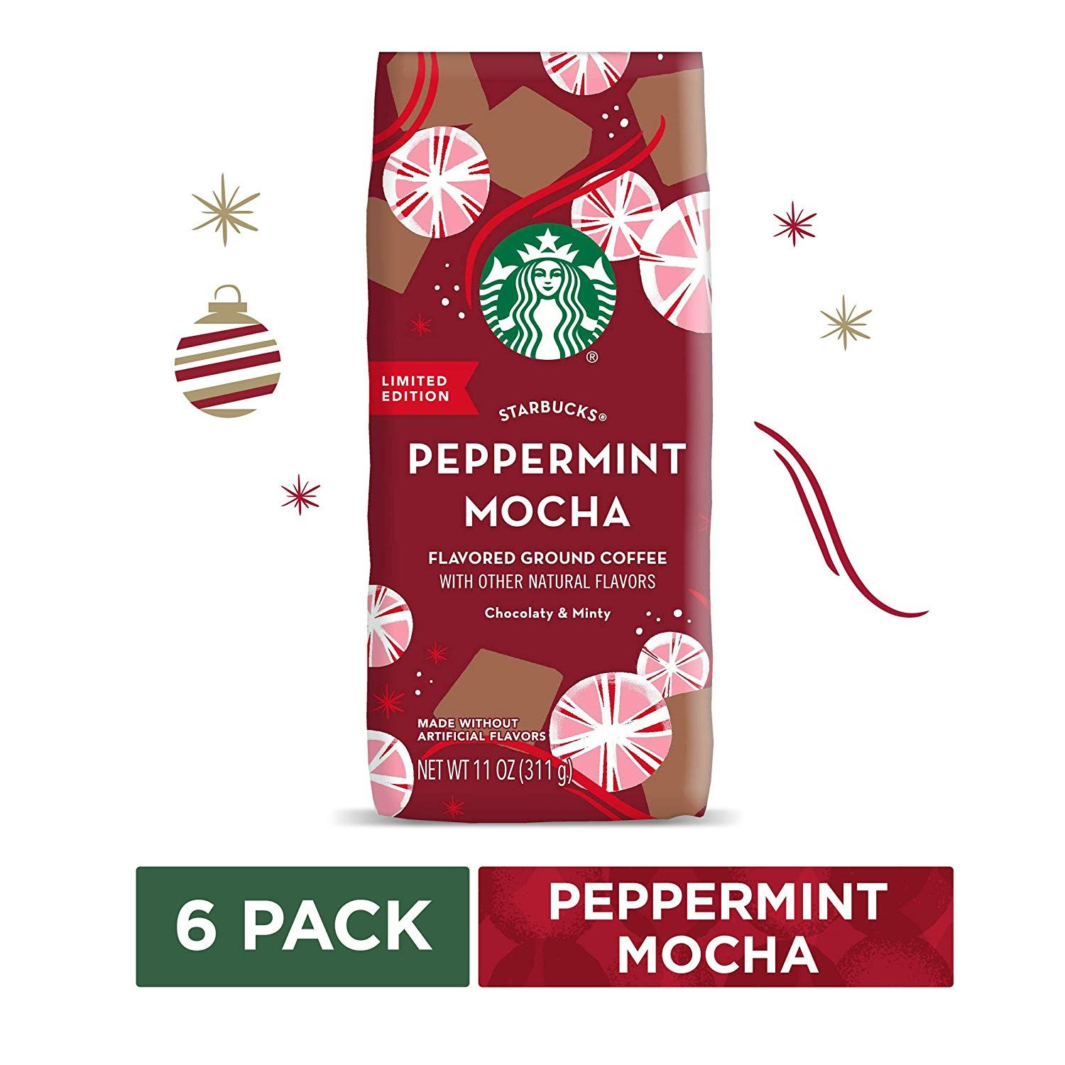Holiday flavor starbucks peppermint mocha is rich and