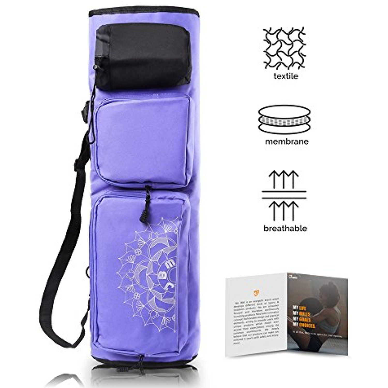 Jbm Yoga Mat Bag 28 4 Extra Long Large Yoga Mat Carrier With 5 Multi Functional Storage Pockets 3 Color For Yoga Ma Large Yoga Mat Yoga Mat Carrier Yoga Bag
